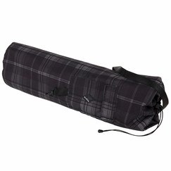 Prana Steadfast Yoga Mat Bag in Black Plaid
