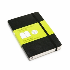 Moleskine Classic Pocket Soft Cover Plain Notebook (3.5 x 5.5)