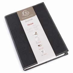 Exacompta Club Leatherette Forum Journal (5 x 7) in Black