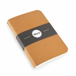 Word Pocket Ruled Notebook (Set of 3) (3.5 x 5.5) in Orange