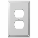 Mirror Clear Acrylic - 1 Duplex Outlet Wallplate