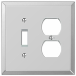 Mirror Clear Acrylic - 1 Toggle / 1 Duplex Outlet Wallplate