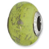 Sterling Silver Reflections Green w/Platinum Foil Ceramic Bead