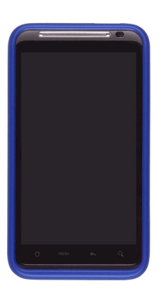 Original HTC Thunderbolt Cobalt Blue Metallic and Black Case