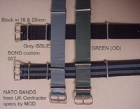 NATO - G10 bands from UK - Kevlar - CLASPS - <br>g shock adaptors RAF www bund