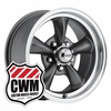 100-S Classic Series Charcoal Gray Aluminum Wheels Rims