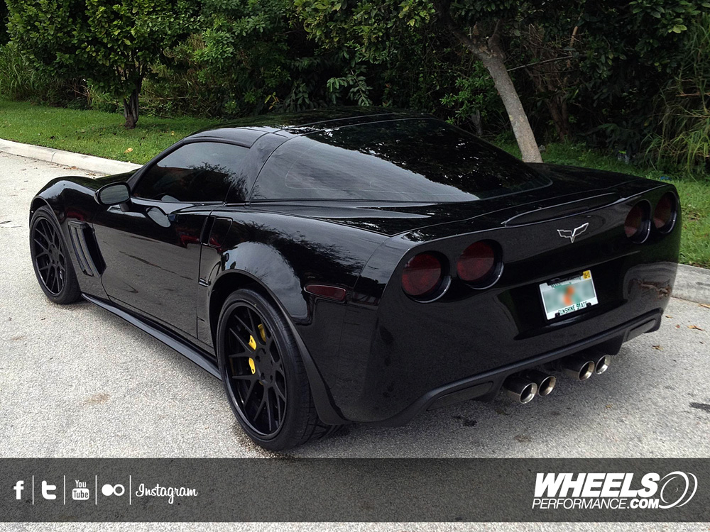 "OUR CLIENT'S CHEVROLET CORVETTE C6 GRAND SPORT WITH 19/20"" COR PRECISE ..."
