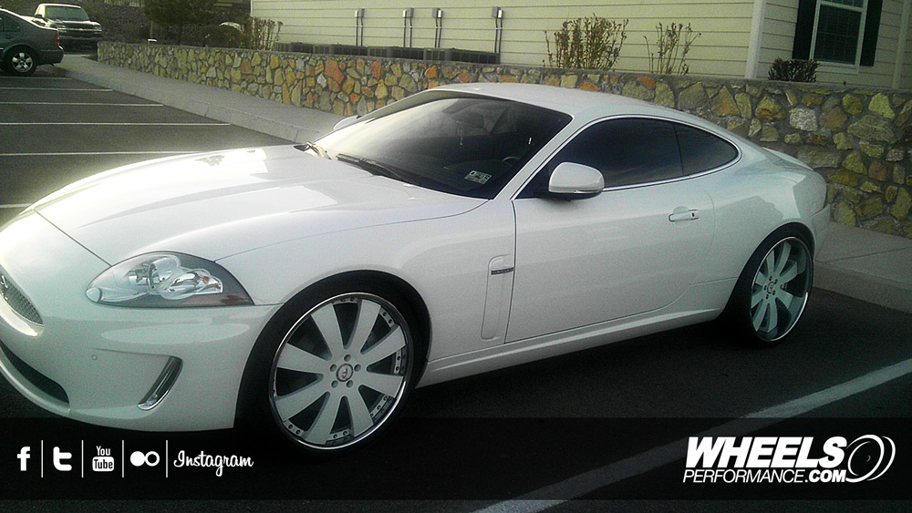 "How To Tire Size >> OUR CLIENT'S JAGUAR XK WITH 22"" FORGIATO OTTO WHEELS"