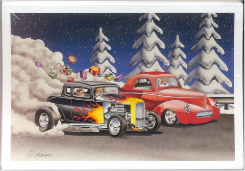 HOT ROD RACING CHRISTMAS CARDS NASCAR Gifts and More at FiSht8IF