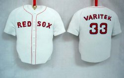 Jason Varitek Boston Red Sox Uniform Christmas Ornament