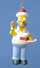 Homer Simpson Eating Cookies Christmas Ornament