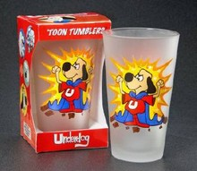Underdog 16oz Glass CLEAR Toon Tumbler