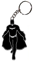 Dark Knight Batman Silhouette Metal Keychain