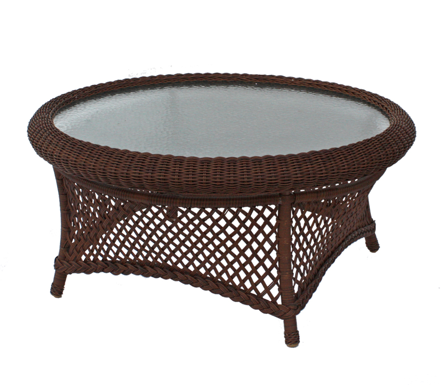 wicker coffee table round 3