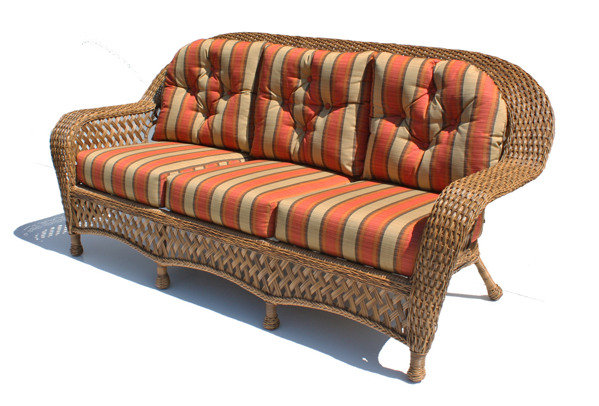 Wicker Patio Sofa Belvedere Wicker Patio 3 Person Sofa