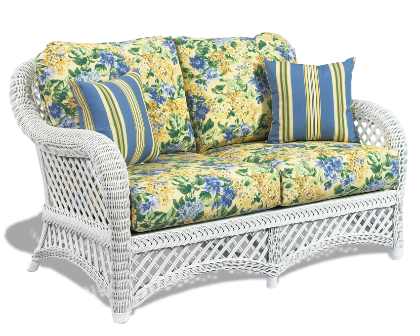 White Wicker Loveseat Lanai Wicker Paradise