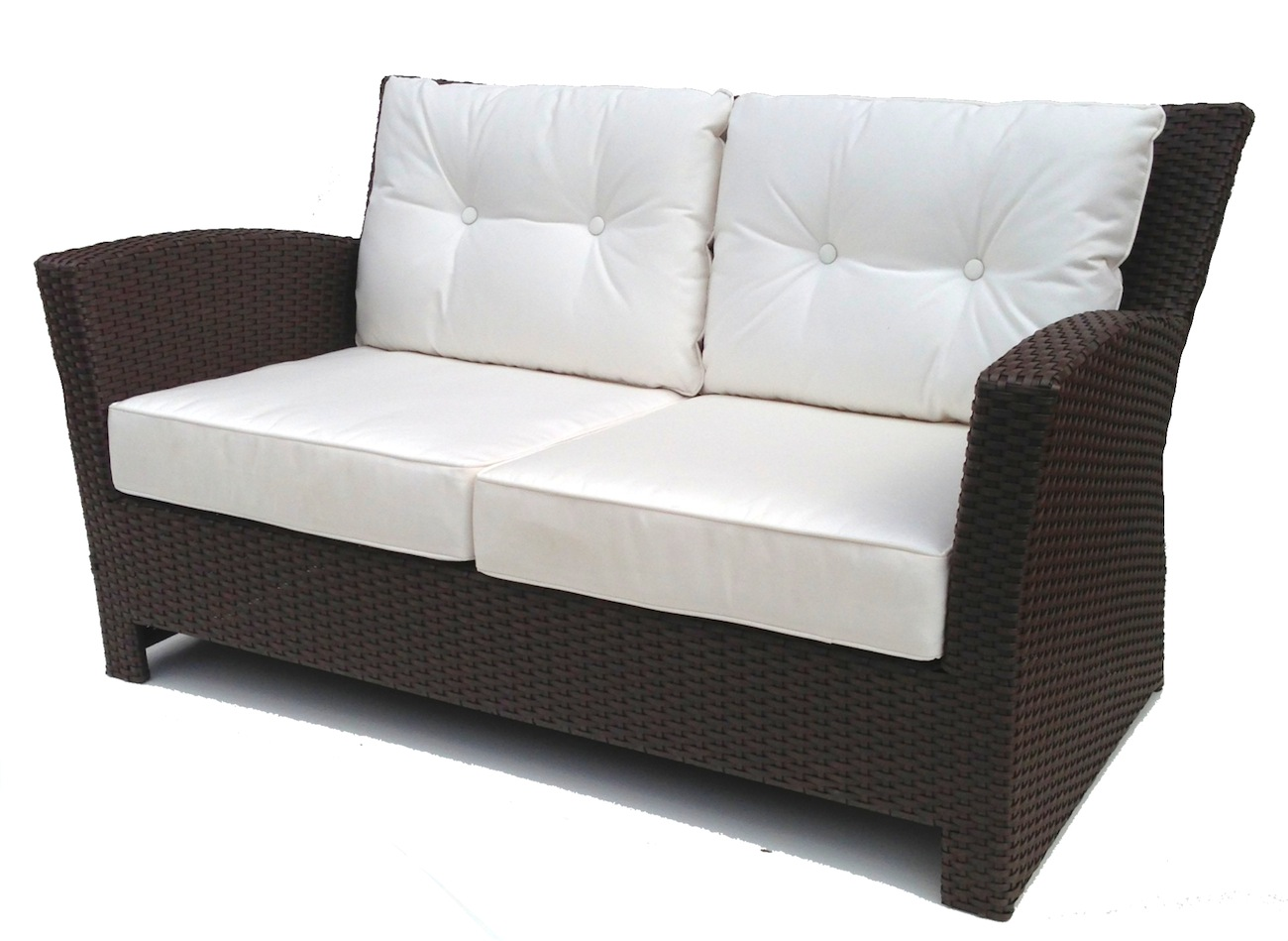 Outdoor Sofa Wicker Hampton Bay Spring Haven Brown All