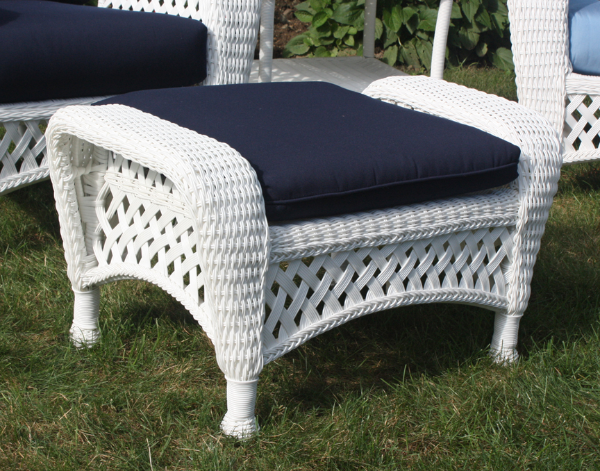 White Outdoor Patio Furniture.White Outdoor Wicker Ottoman