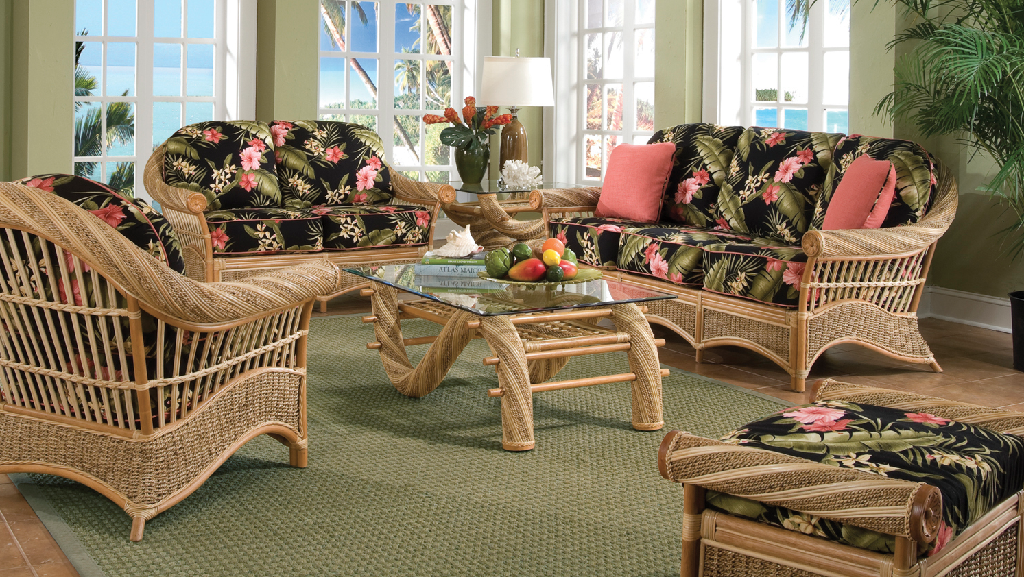 Living Room Furniture Hawaii tropical rattan furniture - kona | wicker paradise