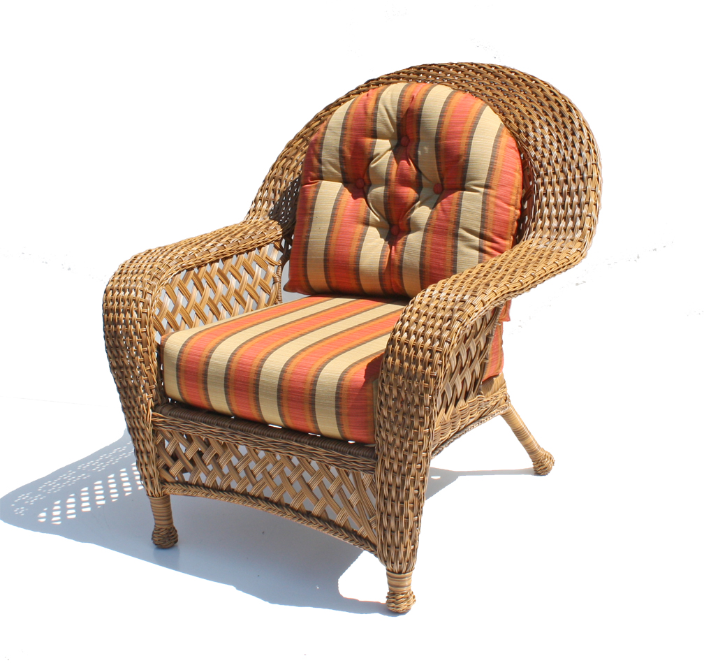 Outdoor Wicker Chair Montauk Shown in Natural Wicker Paradise