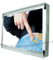 "Click to enlarge: 26"" Widescreen Touch Screen LCD Open Frame Monitor (Model WOPW2600A2-TSAW)"