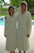 Cotton Terry Hooded Spa Robe 18 oz