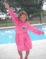 Girls Pink Fleece Robe