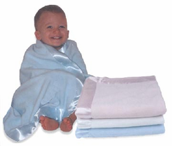 MicroFleece Baby Blankets with Satin Trim