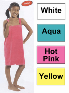 Girls Cotton Bath Wrap for Ages 8-12