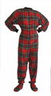 Footed Flannel Pajama 100% Cotton - Stewart Plaid