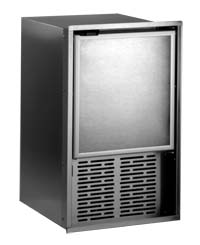 Raritan 85BH518-1 Ice Maker Stainless Steel Cabinet White Door Built-In Flange Mount 120V