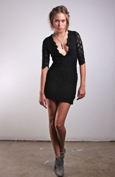 Nightcap Deep V Victorian lace dress CP416 FINAL SALE