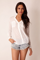 AG Adriano Goldschmied Jenna shirt in white