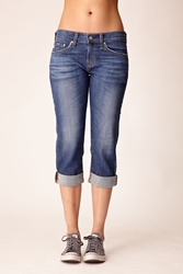 AG Adriano Goldschmied Ex-boyfriend cropped jeans in 8yr soft