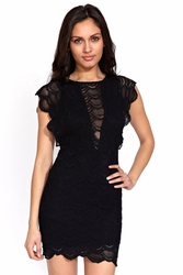 Nightcap Caletto dress in black FINAL SALE