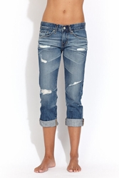 AG Adriano Goldschmied Ex boyfriend cropped jean 17 yr damaged