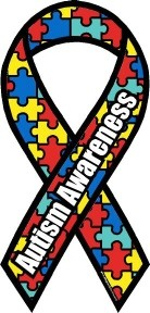 Mini  Autism Awareness Magnet