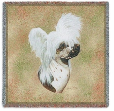 Chinese Crested, Dog Breed Blanket, Lap Throw, Afghan, Tapestry