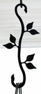 Wrought Iron Plant Hanger-Decorative S-Hook - Leaf