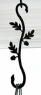 Wrought Iron Plant Hanger-Decorative S-Hook - Acorn