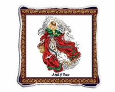 Angel of Peace Tapestry / Woven Throw Pillow