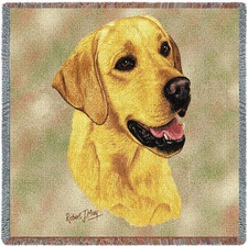 Yellow Lab, Dog Breed Blanket, Lap Throw, Afghan, Tapestry Style
