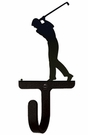 Small Decorative Wrought Iron Wall Hook - Sport, Golfer