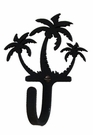 Small Decorative Wrought Iron Wall Hook - Palm Trees