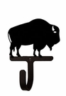 Small Decorative Wrought Iron Wall Hook - Buffalo