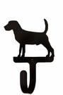 Small Decorative Wrought Iron Wall Hook - Dog, Beagle