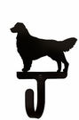 Small Decorative Wrought Iron Wall Hook - Dog, Retriever