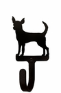 Small Decorative Wrought Iron Wall Hook - Dog, Chihuahua