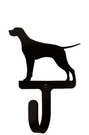 Small Decorative Wrought Iron Wall Hook - Dog, Pointer