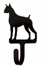 Small Decorative Wrought Iron Wall Hook - Dog, Boxer